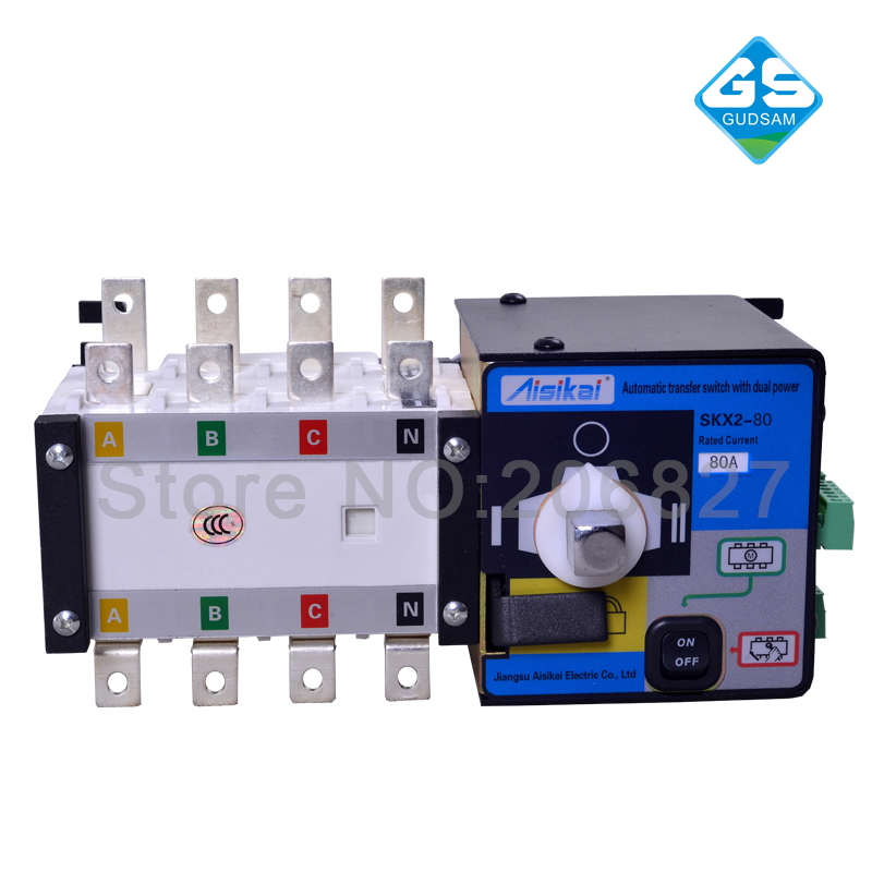 80A three phase genset ATS. automatic transfer switch 4P(ATS 80A)