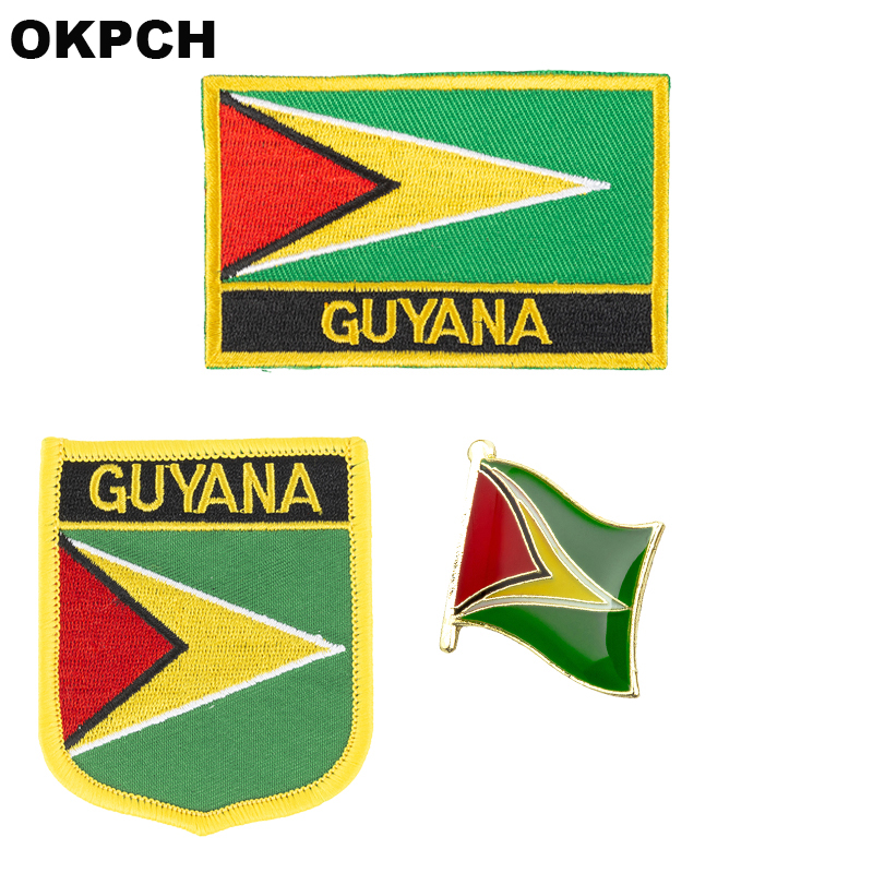 Guyana Guyanese Map Flag National Country Badge 25mm Button Pin Badge.
