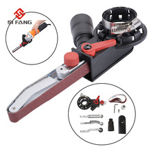"""Cabezal adaptador para máquina lijadora de 4 """"con correas de lijado para amoladora angular eléctrica, herramientas eléctricas de molienda para carpintería"""