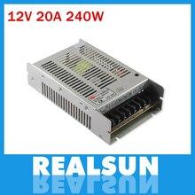 Yeni model 12V 20A 240W anahtarı güç kaynağı sürücü anahtarlama LED şerit işık ekran için 110V/220V ücretsiz kargo