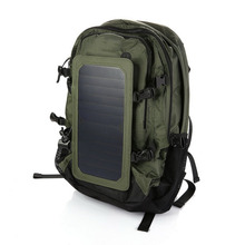 35L Army Green Outdoor Sports Solar Charger Bag Backpack Hiking Camping new arrival