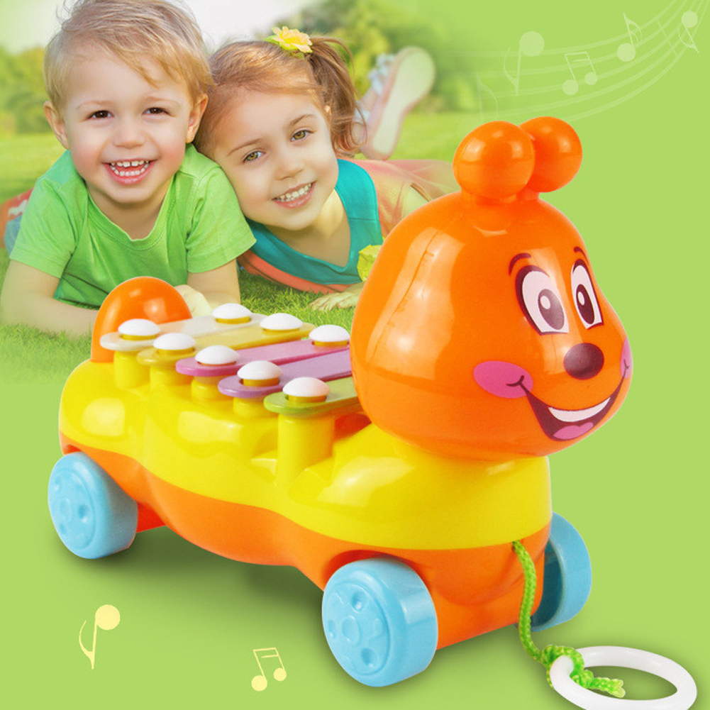 Toy Cartoon Metal ABS Caterpillar Glockenspiel Kids Toy Musical Instrument Baby Infant Playing for Children
