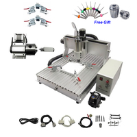 2.2KW 4 Axis Mini CNC Router Engraver 6040 PCB Milling Machine Limit Switch for Metal Stone Cutting