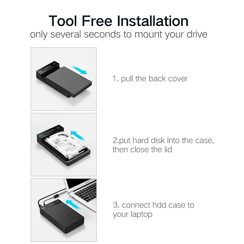 Ugreen HDD Case 3.5 2.5 SATA to USB 3.0 Adapter External Hard Drive Enclosure Reader for SSD Disk HDD Box Case HD 3.5 HDD Case