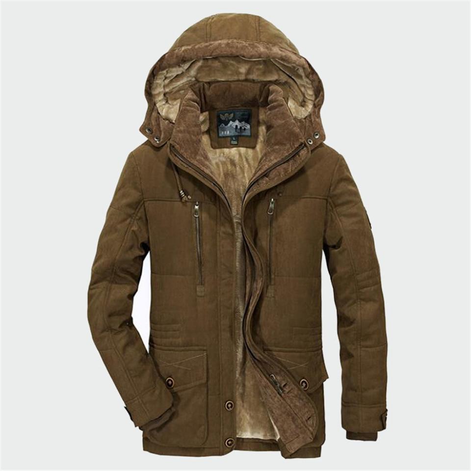 Winter Parka Men Coats 2019 Thick Warm Jacket Men Cotton Hooded Outwear Warm Parka Top Plus Velvet Couple Cotton Parka Coat 3
