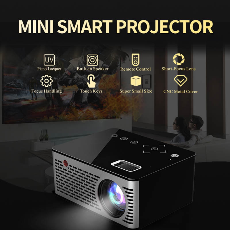 LED Mini Projector HD Portable HDMI USB AV Support Power Bank Charging For Home XXM8 portable 0 6 lcd 4800mah dual usb power source bank w charging adapters for iphone more black