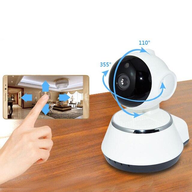 P2P V380 HD 720P Mini Câmera IP Sem Fio Wi fi Câmera de Vigilância de Segurança Visão Nocturna do IR Detecção de Movimento Monitor Do Bebê alarme