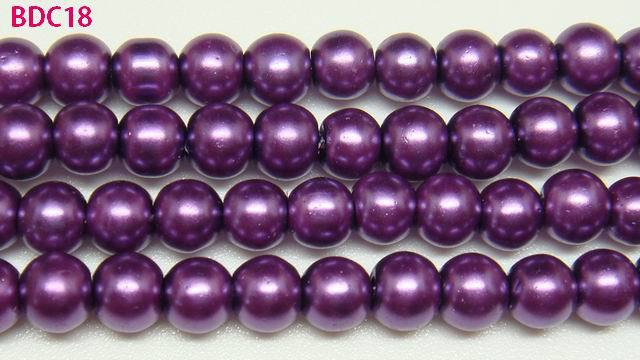 200 Lilac Glass Pearl 4mm Round Beads