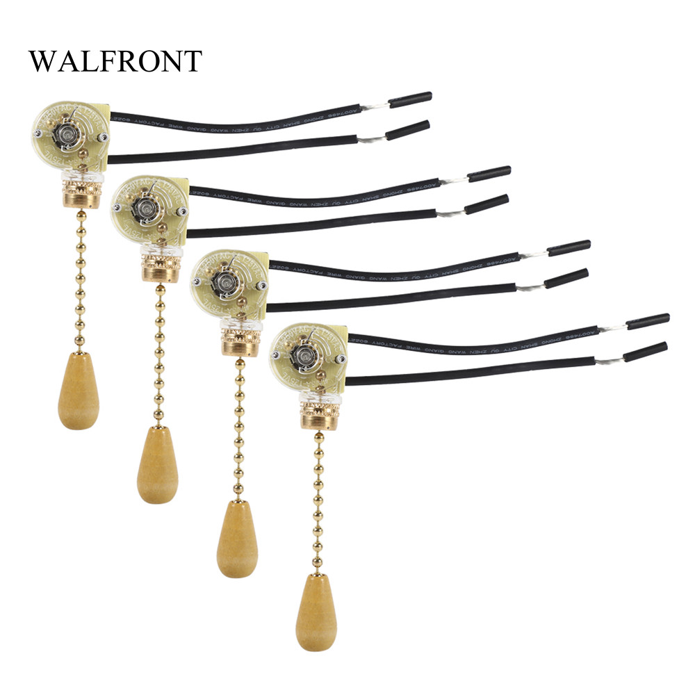 4pcs/Lot Wall Light Pull Switch Home Ceiling Fan Lamp Universal Pull Chain Cord Switch Set Replacement Tools 125/250V