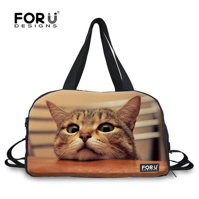 FORUDESIGNS Animals Cats Dogs Pugs Cute Women Yoga Gym Bags Mat For Sport Outdoor Large Tote Travel Shoulder
