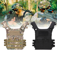 Airsoft Military Paintball Wargame Plate Carrier Tactical Camouflage Vest Molle Combat Assault CS Hunting Vest Jungle Equipment multifunction cs tactical vest military adjustable combat assault plate carrier hunting field vest outdoor jungle equipment