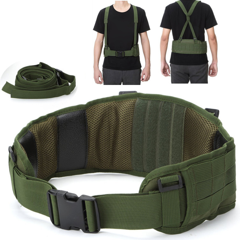 Tactical vest MOLLE Girdle with Shoulder Sling Military Camouflage CS Padded Airsoft Combat Waist Belt Hunting Accessory