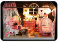 DIY Деревянные Кукольный Дом-Довольно Принцесса Номера, новинка Миниатюрный Кукольный Сборка Игрушка для Детей Бесплатная Доставка