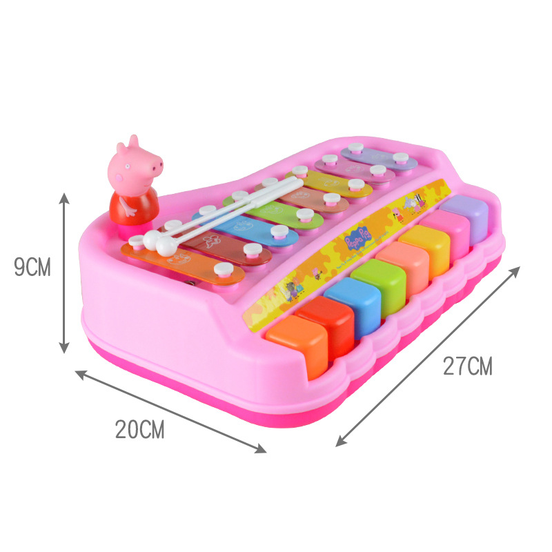 Peppa pig Toy Musical Instrument Learning Education Infant baby toy knock on the piano eight tone piano children musical toys in Toy Musical Instrument from Toys Hobbies