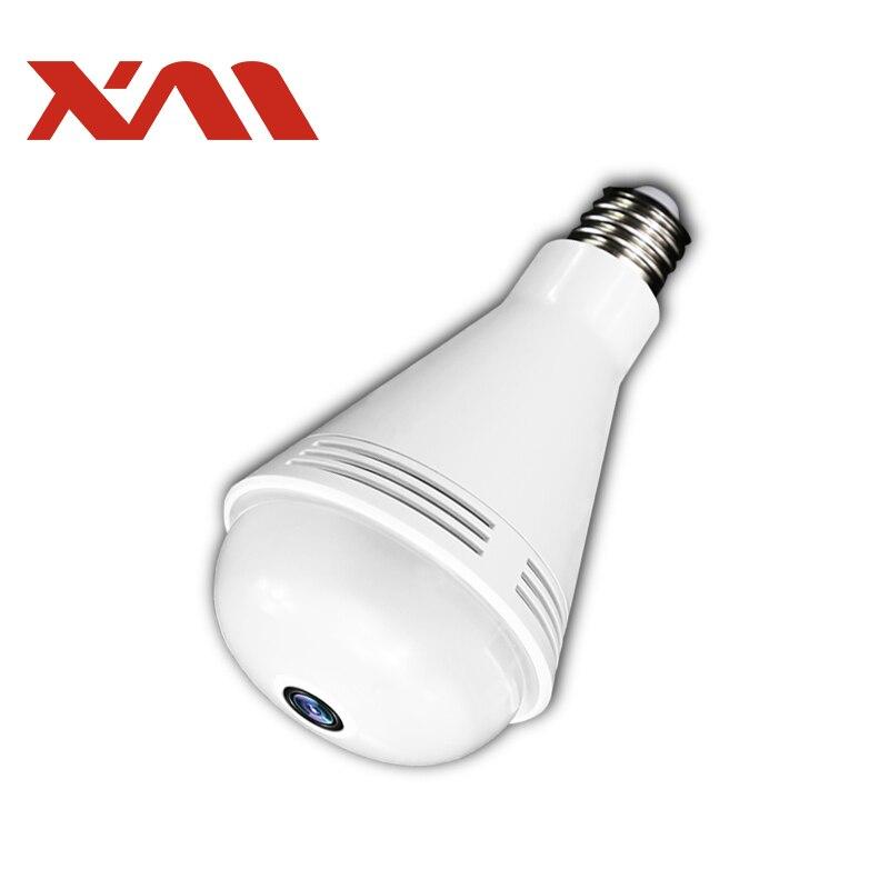 XM 960 P HD Bluetooth Musique Haut-Parleur IP Caméra 360 Panoramique WIFI Led Fullcolor Nuit Vision Ampoule de Sécurité À Domicile caméra