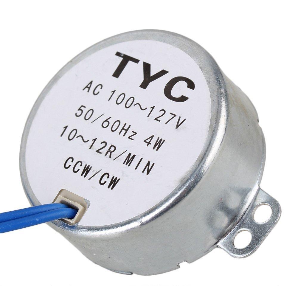 Small Synchronous Motor AC 110V 10-12RPM 50/60Hz 4W CCW/CW TYC-50 Torque 2kgf.cm new arrival synchronous synchron motor 50 60hz ac 100 127v 4w 5 6rpm ccw cw