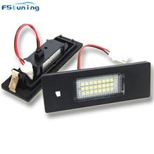 FSTUNING 12v led license plate light for BMW 1 Series E81 E87 E87N E85 Z4 E86 6 E63 E64 car number lamp