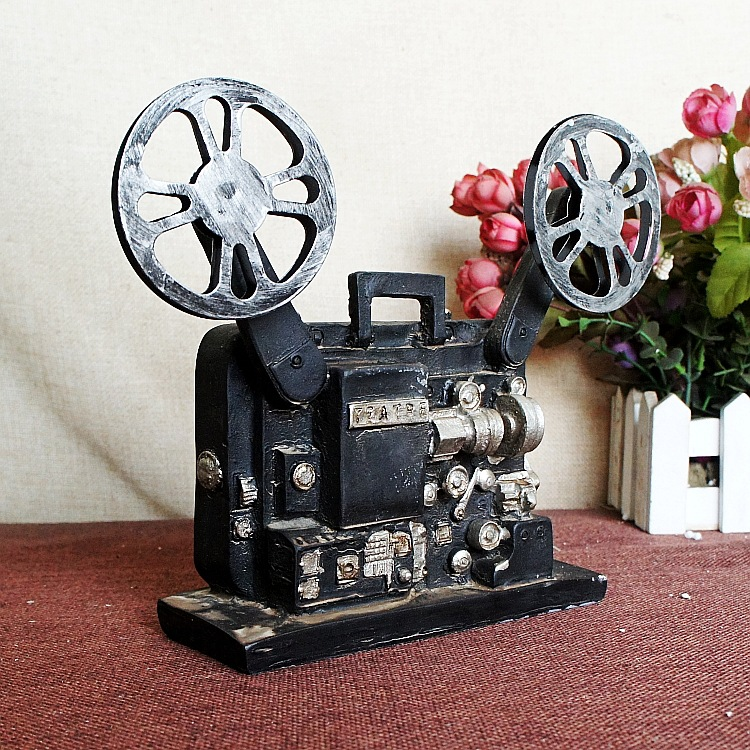 Vintage Style Old fashioned Projector Resin Artificial Film Player Telephone Camera Oil Lamp Retro Home Office Decoration 56