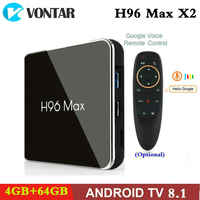 Amlogic S905X2 Smart TV BOX Android 8.1 H96 MAX X2 4K Media Player Google Play 2.4G&5G Wifi 4GB RAM 64GB H96MAX TVBox PK X96MAX