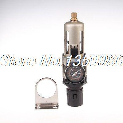 1x SMC Type 1/4 BSP Air Filter Regulator Gauge 2000 L/min Semi auto drain бра reccagni angelo a 6208 1