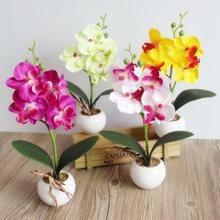 Искусственный искусственный цветок фаленопсис, мини-бабочка, Орхидея, украшение для дома и сада