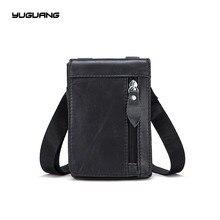 Leather Men's bags, the first layer of cowhide, retro men's purse, single shoulder bag, zero Purse