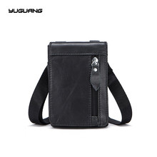 Leather Men s bags the first layer of cowhide retro men s purse single shoulder bag
