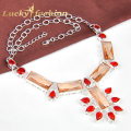 MARVELOUS Style Exotic Popular Morganite for Punk Women Nacklace Silver Plated Jewelry Plated Wholesale Free shipping!!