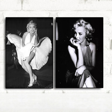 Movie Actress Black and White Marilyn Monroe Vintage Canvas Art Painting Posters Prints Nordic Wall Picture for Living Room