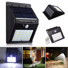 1X 20LED Solar Power PIR Motion Sensor Wall Light Outdoor Waterproof Street Yard Path Home Garden Security Lamp Energy Saving
