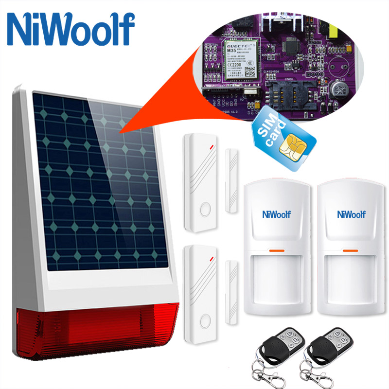 New Solar Power GSM Alarm System Outdoor Waterproof APP Ultra Low Power Consumption built in flash