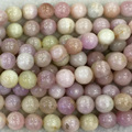 "Wholesale Natural Genuine Purple Pink Kunzite Round Loose Beads 4-16mm DIY Jewelry Necklaces or Bracelets 15"" 04091"