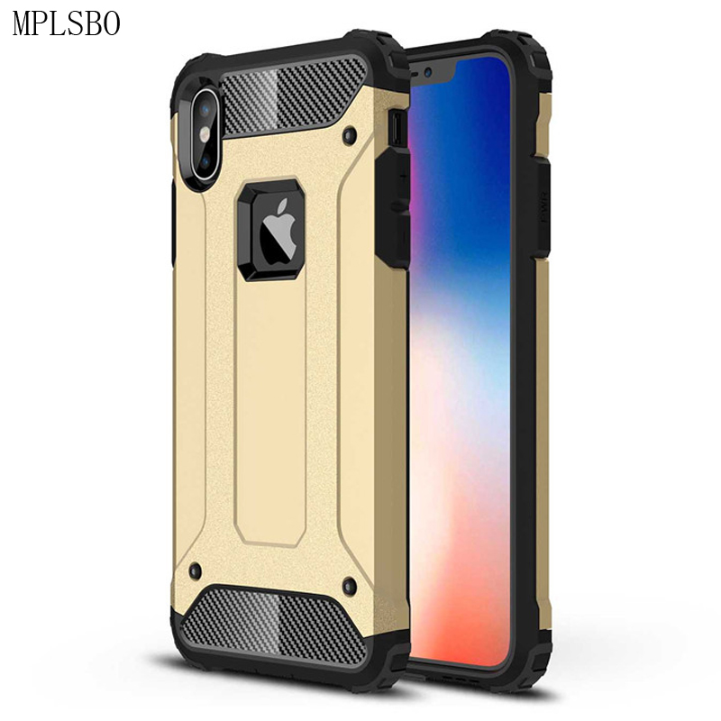 Hybrid Anti-knock Hard PC Phone Case for iPhone 5 5S 5E X Cases Cover for iPhone 6 6S 7 8 Plus XR XS Max Frosted Case Fundas