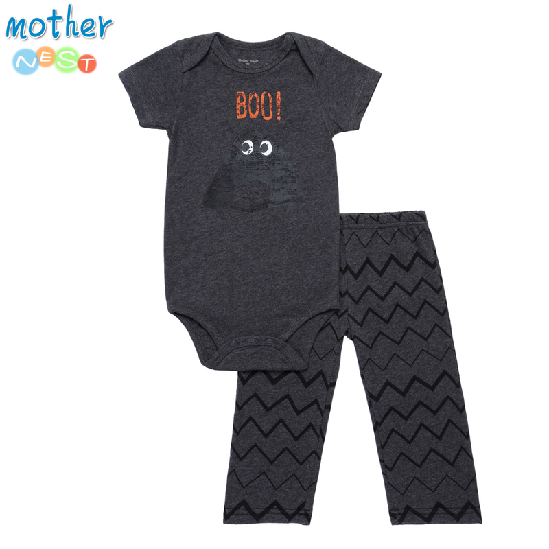 Mother Nest Summer 2017 Baby Boy Romper 2 PCS/SET Baby Jumpsuit Short Sleeve Newborn Baby Boy Clothes Set Infant Outfit