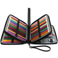 72/168 slots estojo de lápis prismacolor colorido caneta saco super grande capacidade ziplock