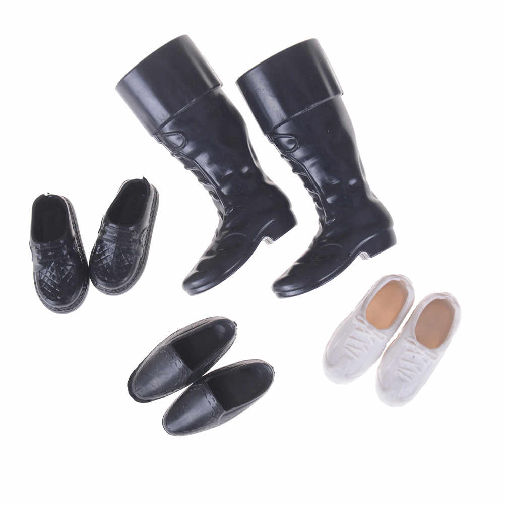 4 pares de zapatos Cusp zapatillas Botas altas hasta la rodilla para novio ropa de Ken accesorios de vestir para muñecas amigas