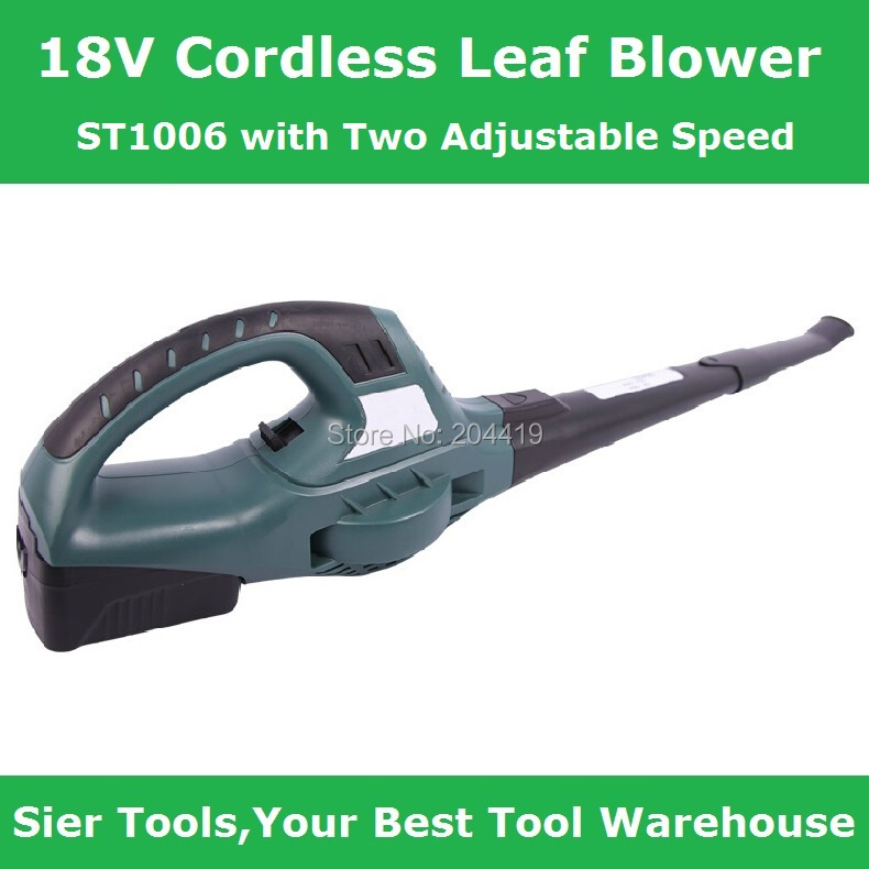 st1006 18v cordless leaf garden leaf blower with two adjustable speed - Cordless Leaf Blower