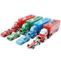 Disney Pixar Cars 2 3 Lightning McQueen King F1 Uncle Cargo Truck Diecast Alloy Cars Model Children's Day Gift Toy For Kid Boy