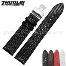 12 | 14 | 16 | 18 | 20 mm de alta qualidade pulseira de couro com fivela de aço inoxidável frete grátis