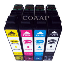 4 cartucho de tinta T220XL T2941 T2942 T2943 T2944 Para WorkForce WF-2630 WF-2650 WF-2660 Impressora