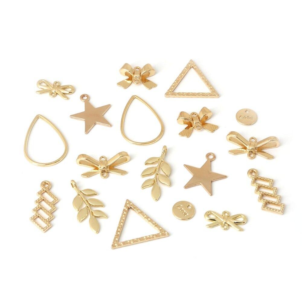 10 Teile/beutel Verschiedene Größen Verschiedene Muster Kleine Legierung Anhänger Schmuck Zubehör Für Diy Ohrring Halskette Ein BrüLlender Handel