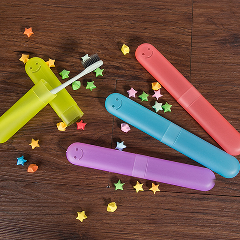 Candy Color Style Toothbrush  Bathroom Portable Dust-proof Toothbrush Case Box Travel Toothbrush  Protect  Tube Cover