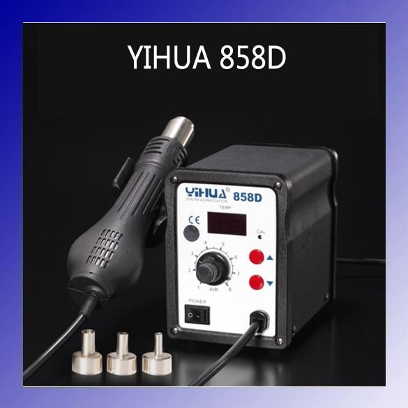 HOT YIHUA 858D 110V/220V 700w Hot Air SMD Rework Station Heat Gun Welding Repair термофен 858d smd