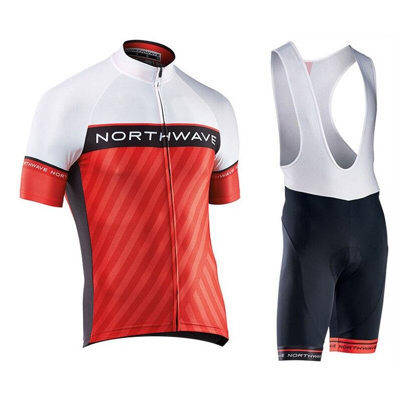 NW 2018 NORTHWAVE Hommes D'été Cyclisme Maillot Manches Courtes Ensemble Respirant cuissard Vélo Vêtements Gel Pad Vêtements #14