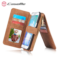 2016 CaseMe Luxury Magnetic 2 In 1 Genuine Leather Case For Samsung Galaxy S6 Edge 5