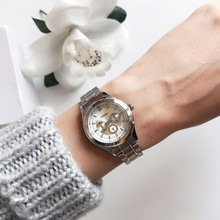 Silver Quartz Watches Ladies Steel Antique Geneva