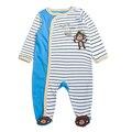 Cubierta Del Pie Del bebé Mamelucos de la Ropa 100% Algodón Pijamas Del Bebé Recién Nacido ropa de Dormir de Manga Larga Niños Niñas Sleepers Manta