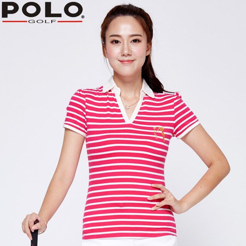 Authentic Brand Golf Clothes New font b Women b font Short Sleeve V neck Shirt Summer