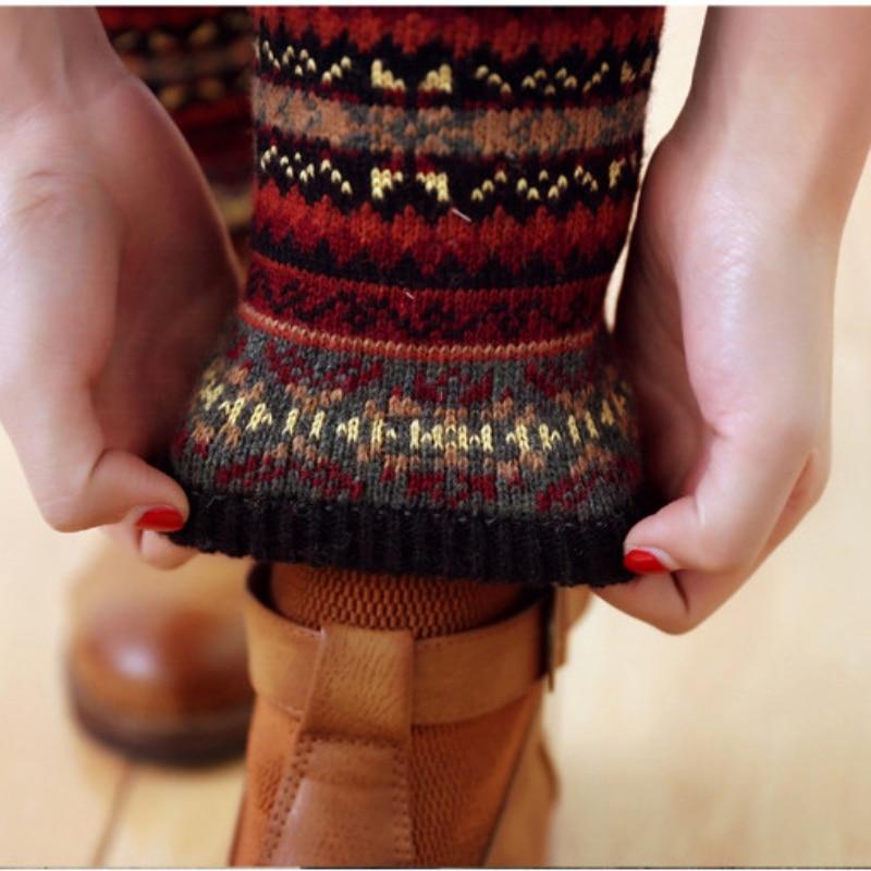 WEIXINBUY Women Winter Elegant Over Knee Long  Knit cover Patchwork Colorful Ladies Crochet Vintage Leg Warmers Legging Chic HTB1S4bWgwvD8KJjy0Flq6ygBFXaD