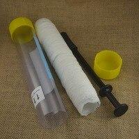 1 Set 37mm X 5 m Carp Fishing PVA Mesh Tube Kit Baiting sistema Alimentatore Materiale da Ridire con Rubber Plunger Per Hair Rig Carping